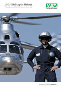 LH350 helicopter pilot helmets