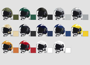LH350 helmet colours