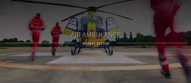 Air ambulance supported by SES Survival Equipment Services