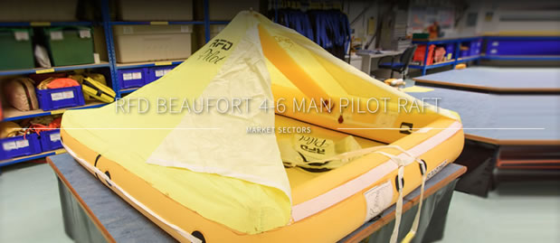 Multi occupancy life raft 4-6 man beaufort raft