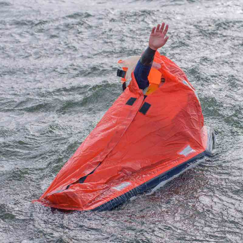 SES Single emergency liferaft canopy Help-Pack