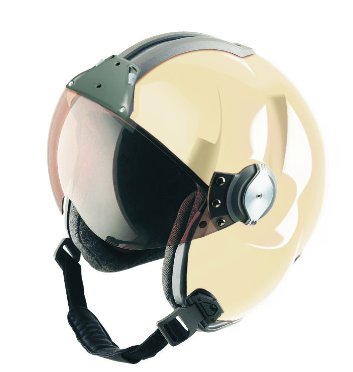 MSA Gallet LH 250 aviation helmet cream