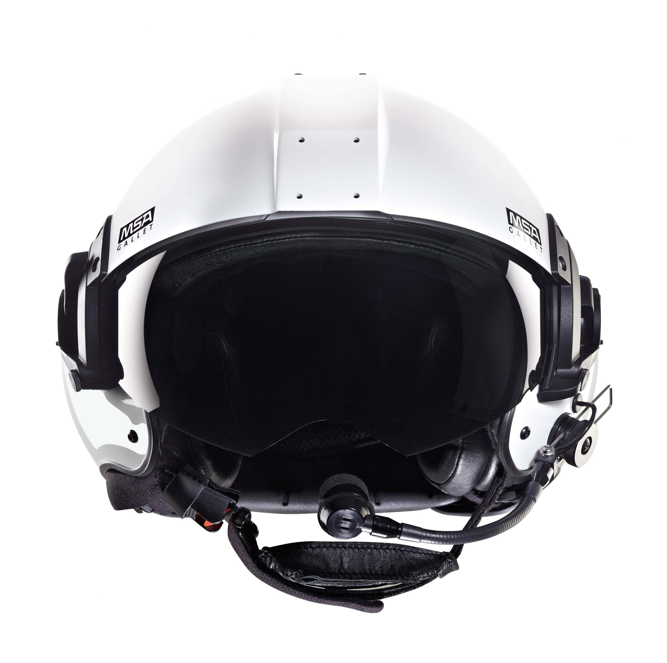 Gallet LH350 helicopter helmet _white_front