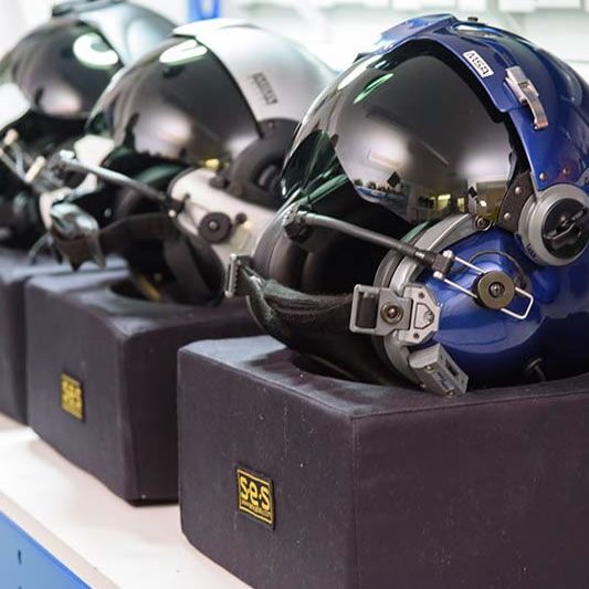 servicing flying helmets