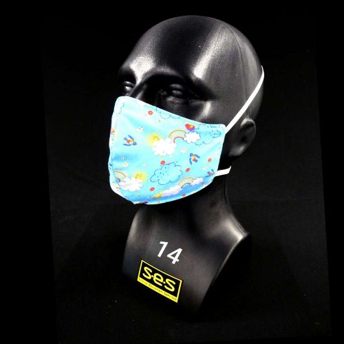 face mask washable reusable PPE 14 NHS Rainbow Fabric