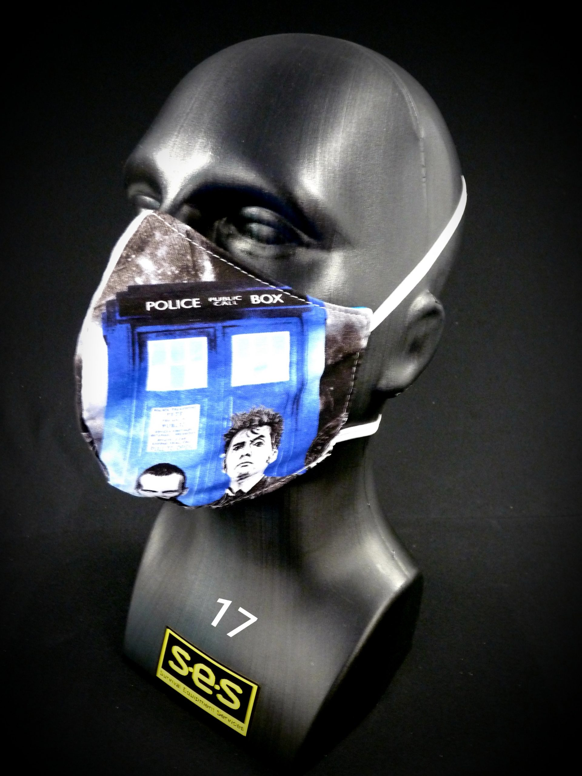face mask washable reusable ppe 17 dr who fabric