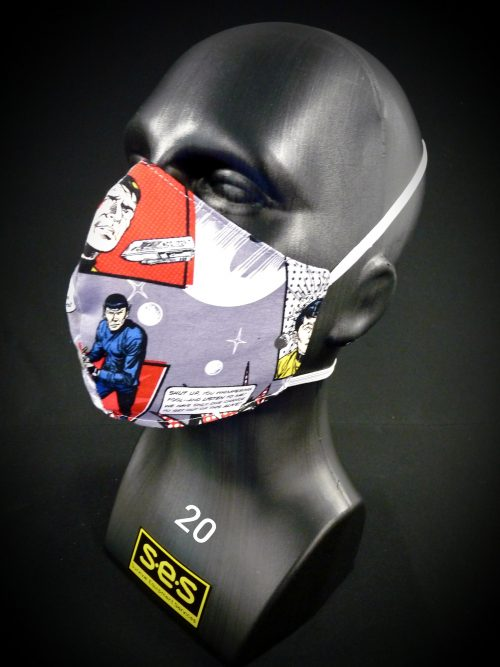 face mask washable reusable ppe 20 star trek fabric