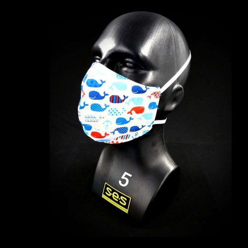 PPE face mask washable reusable PPE whales fabric