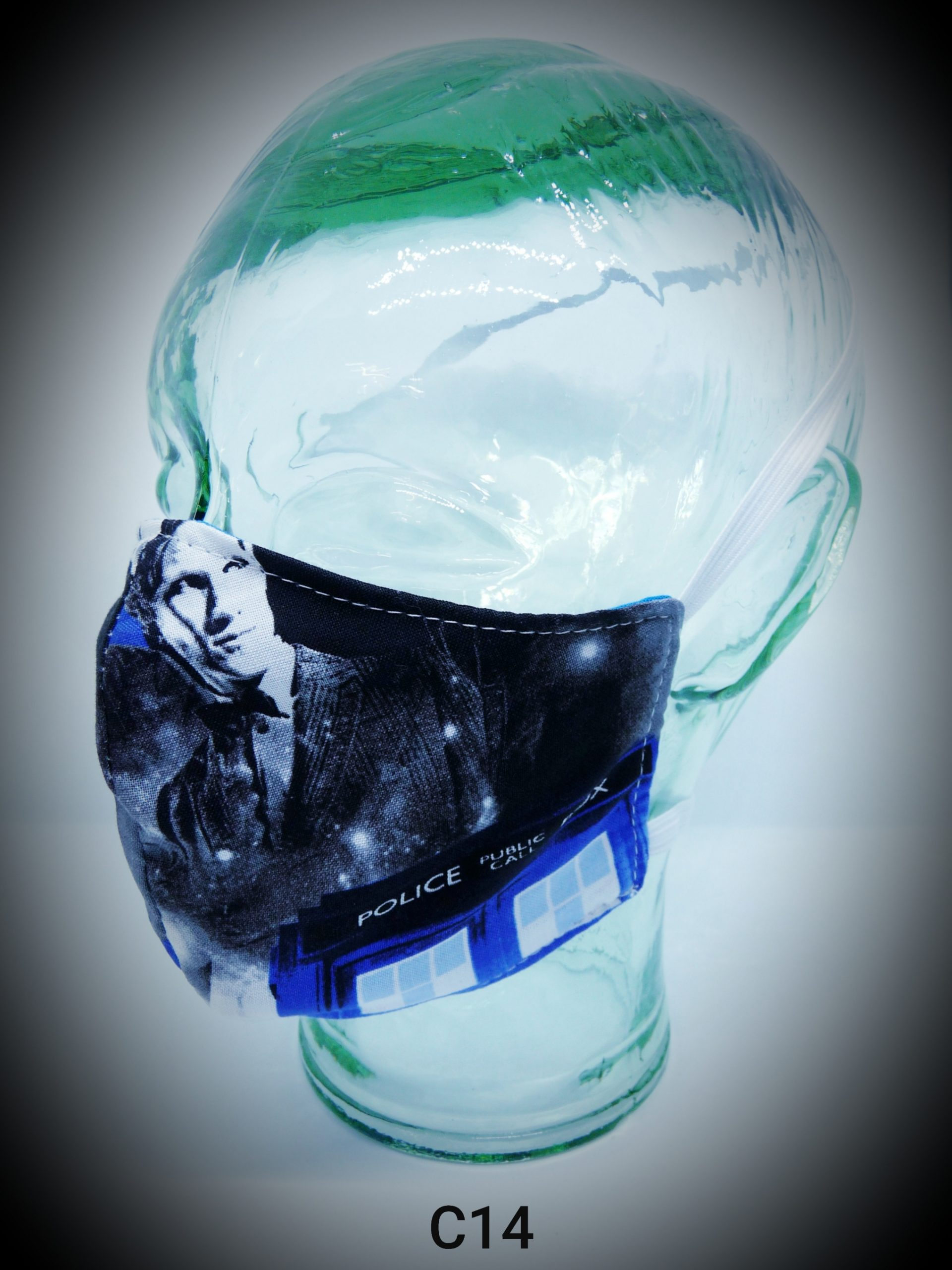 face mask washable reusable ppe c14 dr who fabric