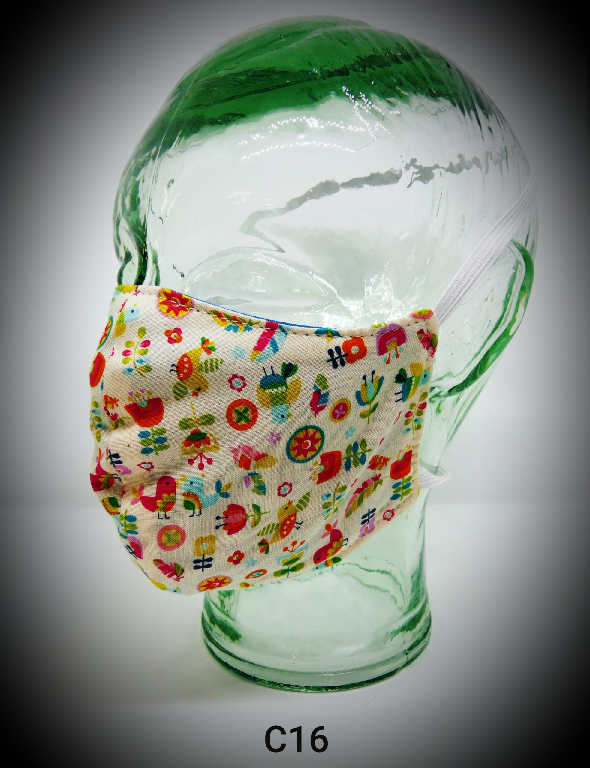 face mask washable reusable ppe c16 pretty garden fabric